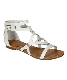 Take a look at this Breckelle's White Crisscross Ruby Sandal today!