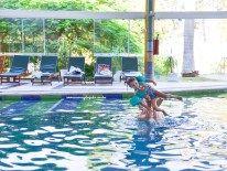 Piscina coberta - Tudo sobre viajar com crianças para um resort all inclusive maravilhoso no interior paulista, pertinho de Campinas, Piracicaba e da Capital Paulista: O MAVSA Resort.