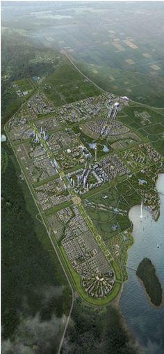 boughzoul ville nouvelle en cour de construction en algerie