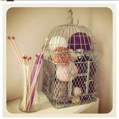 Love this storage for yarn!