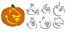 "Angry Birds pumpkin stencils! We are SO doing this. Where I say ""we"" and I mean ""Patrick."""