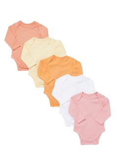 Clothing at Tesco | F&F 5 Pack of Long Sleeve Bodysuits > bodysuits > Bodysuits > Baby