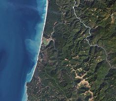 Most Beautiful National Parks Seen From Space - Redwood National and State Parks