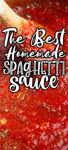 This homemade spaghetti sauce recipe is made with ingredients that you most likely already have in your pantry and will become a dinner staple! Everyone will love this easy homemade spaghetti sauce recipe! Spaghetti Sauce Easy, Best Homemade Spaghetti Sauce, Spaghetti Sauce From Scratch, Homemade Sauce, Best Italian Spaghetti Sauce Recipe, Spaghetti Sauce Ingredients, Canning Homemade Spaghetti Sauce, Homemade Bolognese Sauce, Easy Homemade Recipes