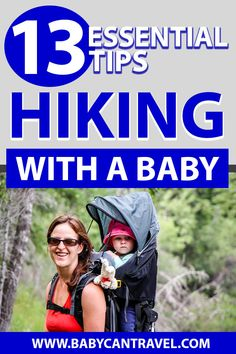 Here are all the tips you need for hiking with a baby! You'll be fully prepared with this list of tips plus all our recommended baby hiking gear and hiking baby carriers. Winter Hiking, Go Hiking, Hiking Tips, Hiking Gear, Hiking Food, Mountain Hiking, Hiking Baby Carrier, Best Baby Carrier, Hiking With Kids