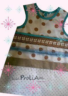 Robe trapèze, chasuble Bébé ☺Happy☺ 6 au 18 mois, robe tendance et moderne : Mode Bébé par lulu-proliam