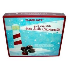 Trader Joe's Dark Chocolate Sea Salt Caramels. Best, at less than half the price of famous competitors!.