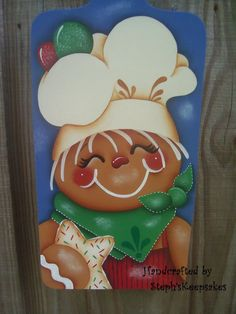 Handpainted Gingerbread Wood by stephskeepsakes on Etsy, $19.95