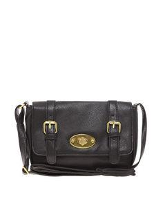 Image 1 ofASOS Across Body Bag With Oval Lock $28.99