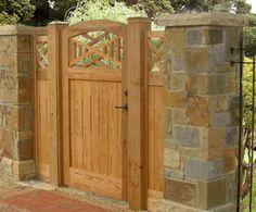 find this pin and more on gates stone and wood fence designs