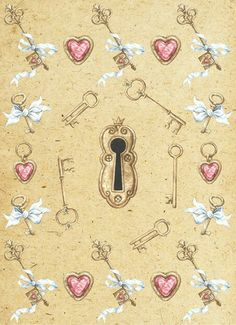 Keyhole and keys background paper