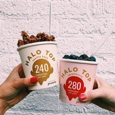 Cheers to starting the week off right with Halo Top!  by @mikayspur