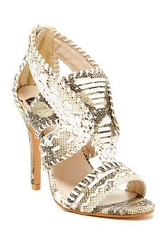 Whipstitched High Heel Sandal