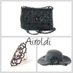 Borsa Airoldi, Anello in silver e zirconi, Cappello Airoldi!