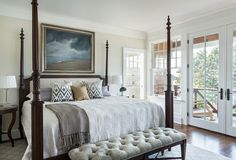 Four Poster Bed Ideas: That's how your dream will come true! four poster bed design ideas bed designs pictures bedroom victorian with glass doors four bedroom sets KMYWTLV Master Bedroom Design, Home Bedroom, Bedroom Decor, Bedroom Designs, Bed Designs, Bedroom Sets, Seaside Bedroom, Bedroom Interiors, Four Poster Bed Frame