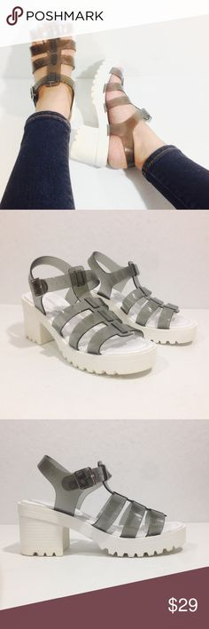 """CALL-IT SPRING """"CEOLA"""" JELLY STRAPPY SANDALS Call it Spring Ceola Sandal Size 6 New without box, never worn Synthetic Upper and Sole Heel measures 2.75"""" approx. Gladiator/ Jelly Sandal. Lightweight Call It Spring Shoes Sandals"""