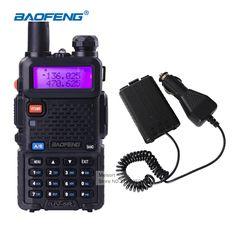 Walkie-talkie baofeng uv-5r uhf vhf de frecuencia portátil de mano estación de radio de radio comunicador jamón radios de dos vías para la caza