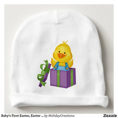 Baby's First Easter, Easter Duck Hat Baby Beanie