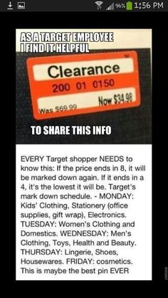 Target discounts,  good info!