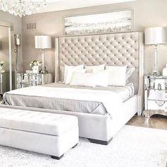 Romantic Master Bedroom Design Ideas - Home Decor Ideas Simple Bedroom Design, Master Bedroom Design, Home Decor Bedroom, Bedroom Ideas, Bedroom Designs, Master Suite, Bedroom Plants, Bedroom Retreat, Budget Bedroom