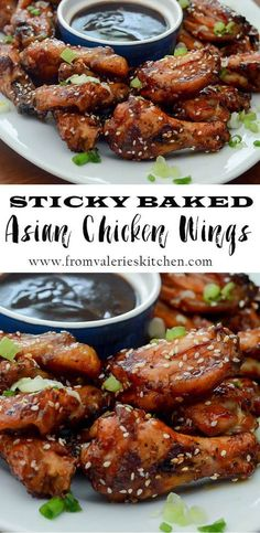 "A no oil ""oven-fry"" method and an irresistible sauce create these crispy Sticky Baked Asian Chicken Wings."