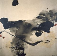CHEN Jiang Hong(陈江洪 Chinese, Traditional Chinese flower painting: Lotus, Ink on canvas Japanese Painting, Chinese Painting, Japanese Art, Abstract Watercolor, Abstract Landscape, Collage Drawing, Art Asiatique, Ink In Water, Tinta China