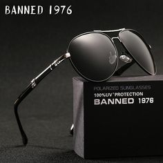 4735cf23335 2018 new Brand Men Polarized Sunglasses man sun glasses Full Alloy Rim men  sunglasses metal big Driving glasses original box