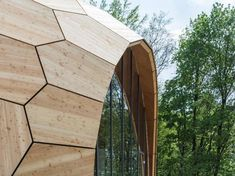 The Institute for Computational Design at the University of Stuttgart have completed the Landesgartenschau Exhibition Hall in Gmünd, Germany, that has been significantly designed and built using robotics.
