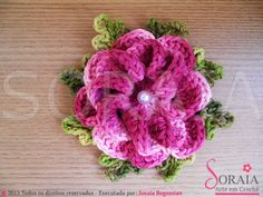 Flor Caracol Lots of flower patterns - video tutorials                                                                                                                                                                                 Mais