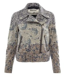 Acne Studios | Liberty Blue Mape LA Liberty Print Embellished Leather Jacket | Jackets by Acne Studios | Liberty | Liberty.co.uk
