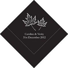 Fall Leaf Printed Napkins (Set of 50)