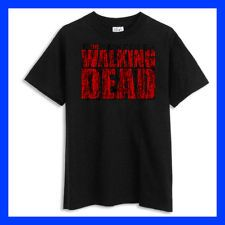 THE WALKING DEAD ZOMBIE Apocolypes Dixon Worn-out look BLACK T-SHIRT #51413
