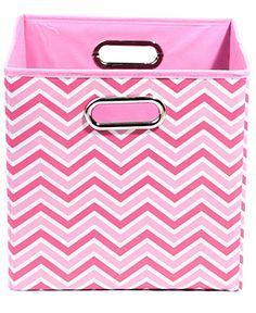 Modern Littles Patterned Folding Storage Bins - Color Crush Room - Bed & Bath - Macy's