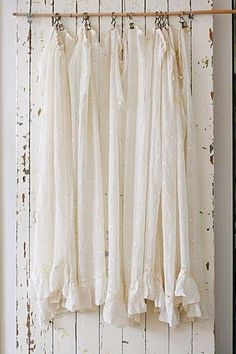 This is absolutely beautiful. I'd use at a window, not over beadboard. The Best of shabby chic in 2017.