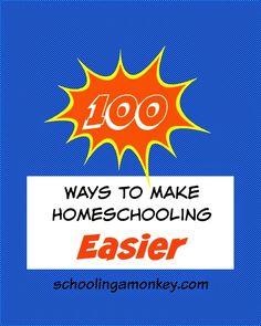 100 Ways to Make Homeschooling Easier