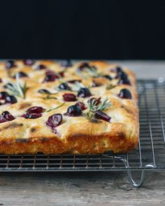 Wood Fired Grape Focaccia with Rosemary — playin with my food