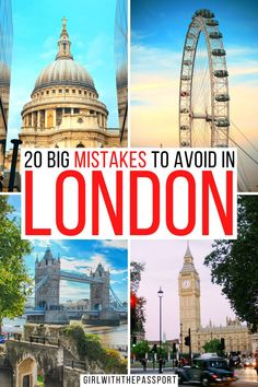 Mistakes To Avoid In London When Planning A Trip To London | Top tips for London Travel | bucket list locations for London | prettiest places in London | cutest locations in London | whimsical locations in London | where to stay in London | how to visit London | cutest places to see in London | where to stay in London | things to avoid in London | London itinerary tips | Best things to do in London | What to know when planning a trip to London | planning a trip to London #London #LondonTravel Road Trip Europe, Europe Travel Guide, Travel Destinations, Travel Guides, New York City Travel, London Travel, European Vacation, European Travel, Things To Do In London