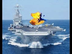 Fighter Jets Crashes On Aircraft Carrier Caught On Tape - YouTube