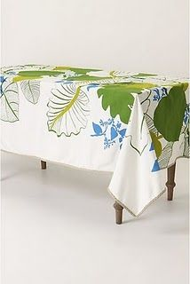 Jungle Leaves Tablecloth linen