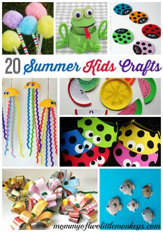 For those days when the kids are home alllll dayyyyy hahaha   20 Summer Kids Crafts - Awesome Boredom Busters! -