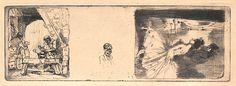 En-têtes de Lettres (Ba59) d'Auguste Brouet (1872-1941) gravé en juillet 1915 et comprenant le petit tonnelier (Ba60) en partie gauche, le Sportsman (Ba55) au centre et la petite danseuse au miroir (Ba152) à droite. Second état tiré à 28 épreuves. http://www.auguste-brouet.org/Catalogue/Pages/59.htm MAS Estampes Anciennes - Antique Prints since 1898