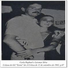 "Carla Raphael e Luismar Silva. Coluna do Gil ""Gente"" do A Crítica de 12 de setembro de 1982."
