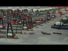 ▶ Container terminal - YouTube Container Terminal, N Scale, The Other Side, Cigar, Netherlands, Community, Ship, World, Water