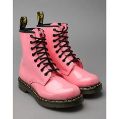 DR. MARTENS Classic 1460 Patent ($140) ❤ liked on Polyvore