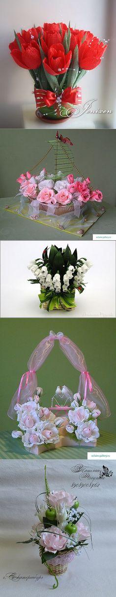 Цветочно-конфетный декор - замечательные идеи от мастериц | Мир своими руками. Интернет магазин. http://www.worldhand.ru