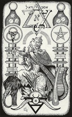 """Magus of the Eternal Gods"" ~ The Hermetic Tarot ~ the Hierophant ~ Trump V Find out what the Hierophant means for you: www.tarotbyemail.com"