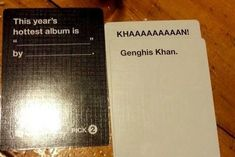 "The time you really wanted to buy this album. | 26 Times ""Cards Against Humanity"" Was Almost Too Perfect"
