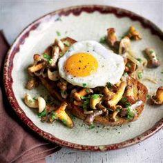 Garlic mushrooms on toast.