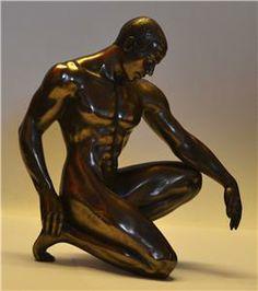 Gay Interest Nude Man Kneeling Figure Cold Cast Bronze Sculpture | eBay
