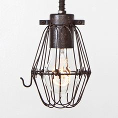 Fab.com   Basic Wire Bulb Cage Rust